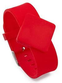 Силиконовый бесконтактный браслет Mifare с металлической застежкой
