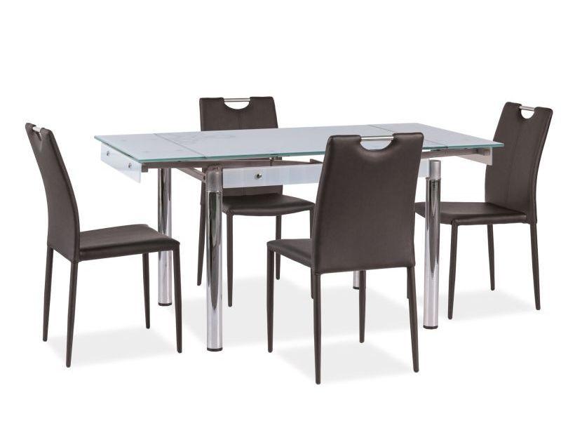 Стол стеклянный белый GD-092