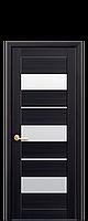 Дверне полотно Лілу зі склом сатин колір  Венге DeWild