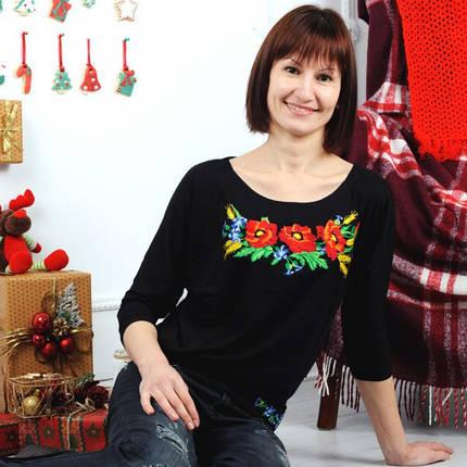 Женская вышиванка  Патент роскош до 56 размера, фото 2