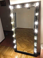 Зеркало с лампами Шебби - Шик