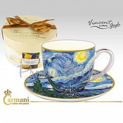 Чашка с блюдцем Ван Гог «Звездная ночь» Carmani