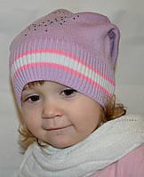 "Детская вязаная шапочка камни ""Сердечко"", фото 1"