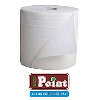 Промышленные бумажные полотенца белые для очистки и сбора жидкостей 300м 28см 2шар 1000 отрывов Eco Point
