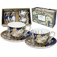 Набор для кофе 2 чашки + 2 блюдца Уильям Моррис Carmani, 250 мл., d-15 cм