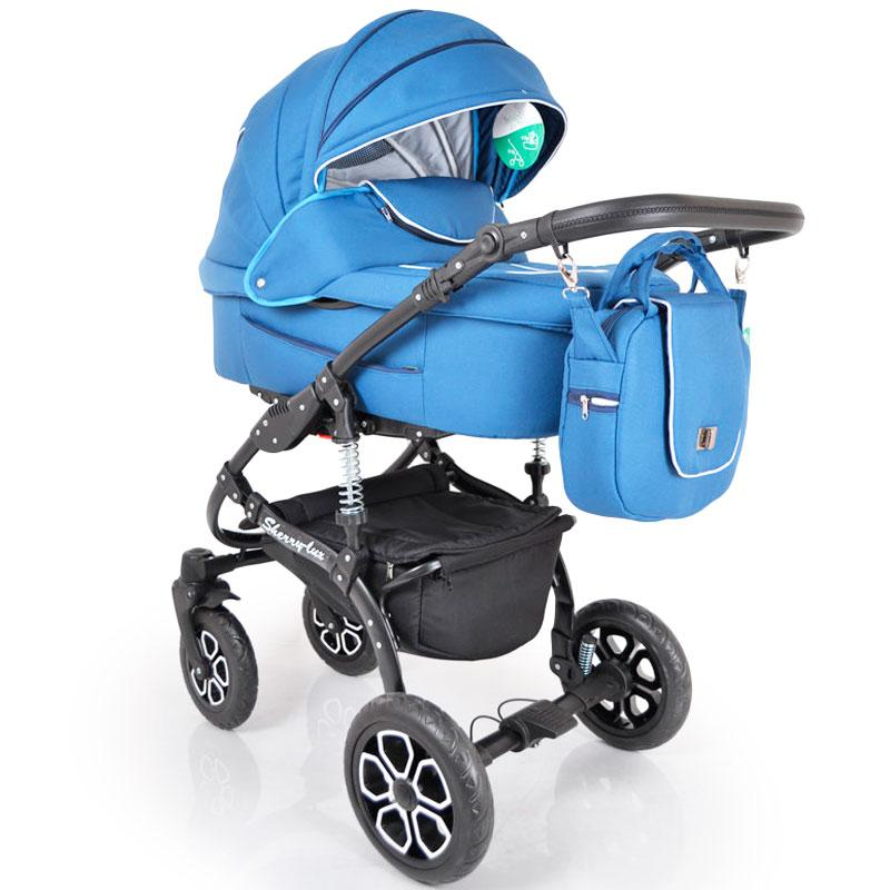 Детская коляска 2 в 1 Sherry Lux Blue