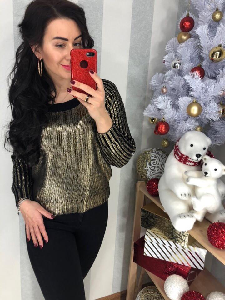 Женский  яркий свитер (Фабричный Китай )  Код 398