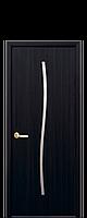 Дверне полотно Гармонія зі склом сатин колір Венге DeWild