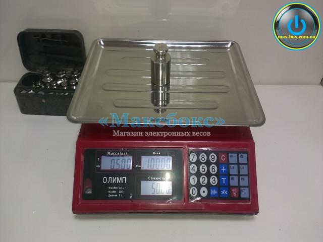 Весы торговые настольные 40 кг – Олимп 769