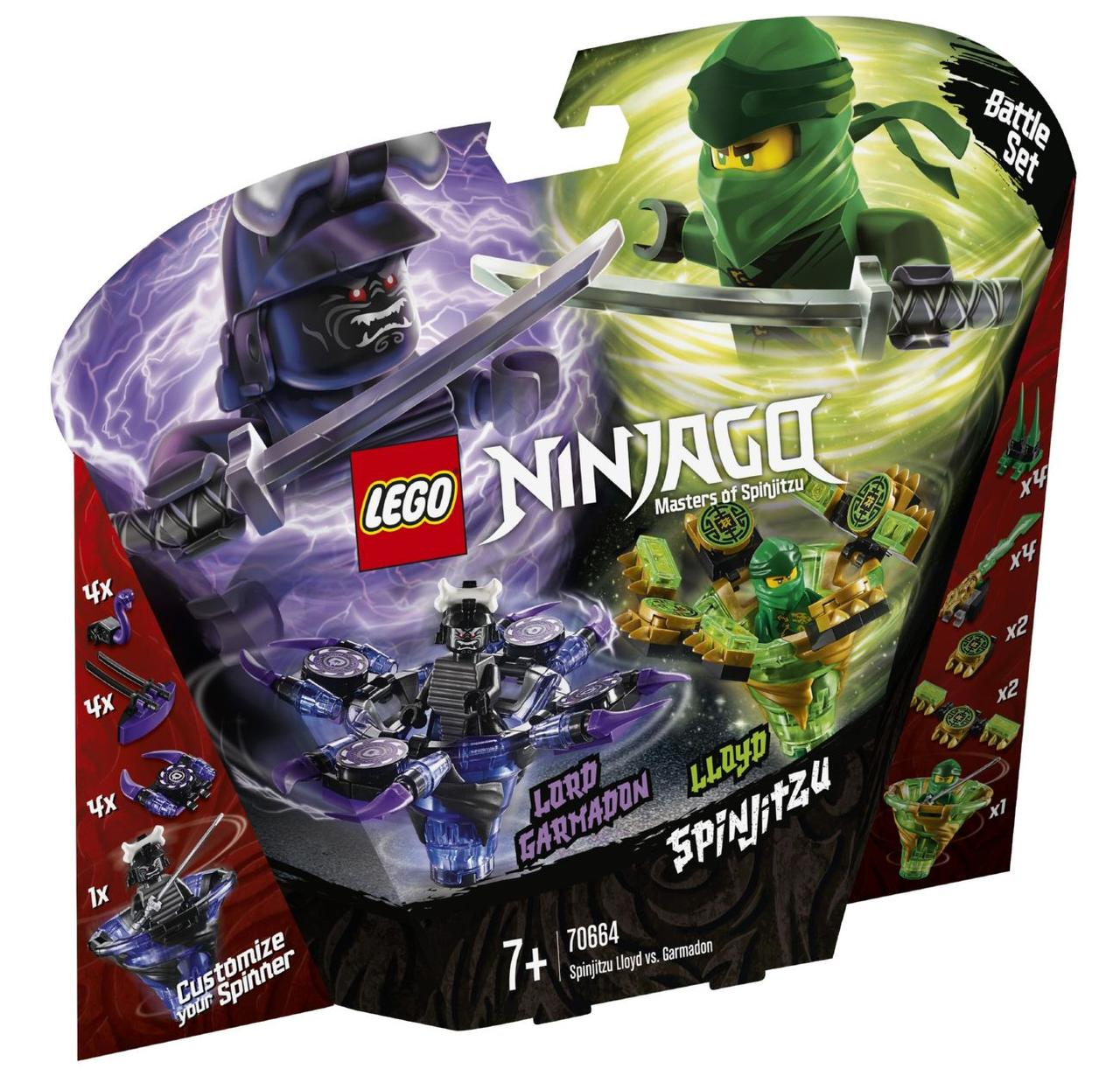 Lego Ninjago Ллойд майстер Кружітцу проти Гармадона 70664
