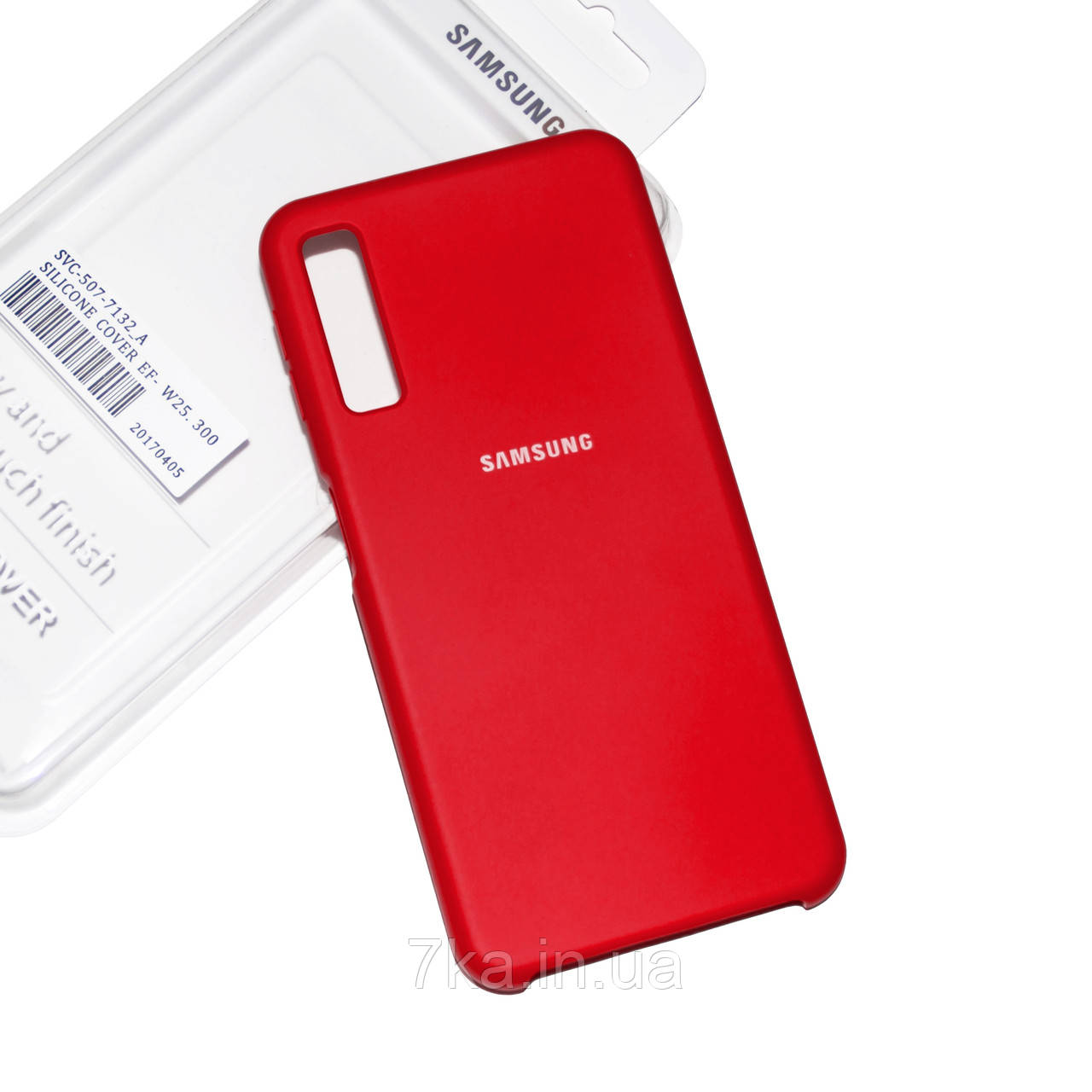 Силиконовый чехол на Samsung Galaxy A7 2018 A750 Red