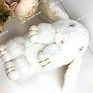 """🐰 Сумка-Рюкзак 🐰 белоснежный меховой Кролик """"Rex Fendi"""" (зайка, зайчик) как игрушка, фото 2"""