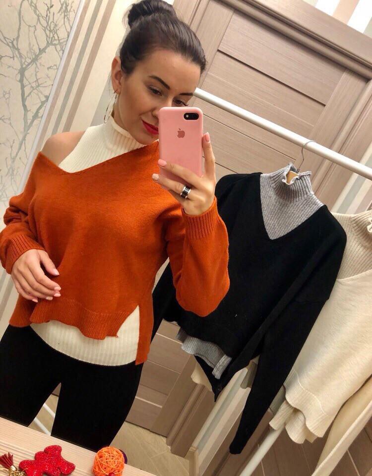 Женский  свитер +майка (Фабричный Китай )  Код 0126