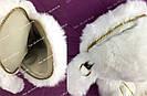 """🐰 Сумка-Рюкзак 🐰 белоснежный меховой Кролик """"Rex Fendi"""" (зайка, зайчик) как игрушка, фото 10"""