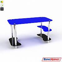 Компьютерный стол стекляный синий Антей от БЦ-Стол, фото 1