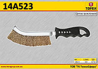 Щетка проволочная 240мм,  TOPEX  14A523
