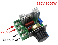 Диммер, Регулятор напряжения AC 2000Вт, 220В, фото 1