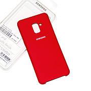 Силіконовий чохол Samsung A8 Plus 2018 A730 Soft-touch Red