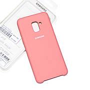 Силіконовий чохол Samsung A8 Plus 2018 A730 Soft-touch Pink