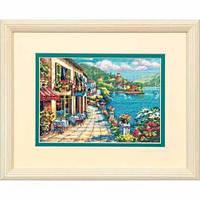 """Набор для вышивания крестом Overlook Cafe """"Кафе с красивым видом"""" 65093 DIMENSIONS"""