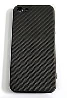 Чехол для Apple iPhone 5 / 5s / SE силиконовый карбон