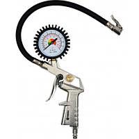 Пистолет пневматический VOREL для накачивания с манометром, V-81650