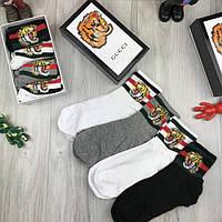 Женские брендовые носки Gucci 36-40 хлопковые комплект женских качественных носков хлопок Гуччи люкс реплика, фото 1