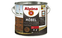 Алкидный мебельный лак ALPINA MÖBEL SM (шелковисто-матовый) 2,5 л