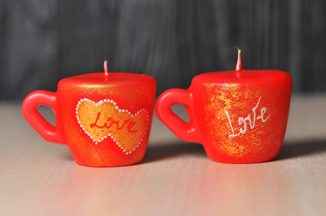 свечи на день валентина