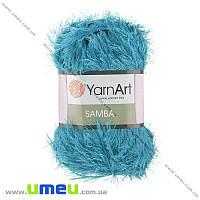 Пряжа YarnArt Samba 100 г, 150 м, Бирюзовая 30, 1 моток (YAR-025496)
