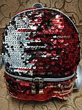 (19.5*18)Женский рюкзак искусств кожа качество с двойная пайетка городской спортивный стильный опт, фото 2