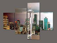 Модульная картина Небоскребы.Seattle Skyline (города мира) 126*96,5 см