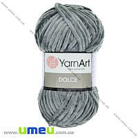 Пряжа YarnArt Dolce 100 г, 120 м, Серая 760, 1 моток (YAR-029681)