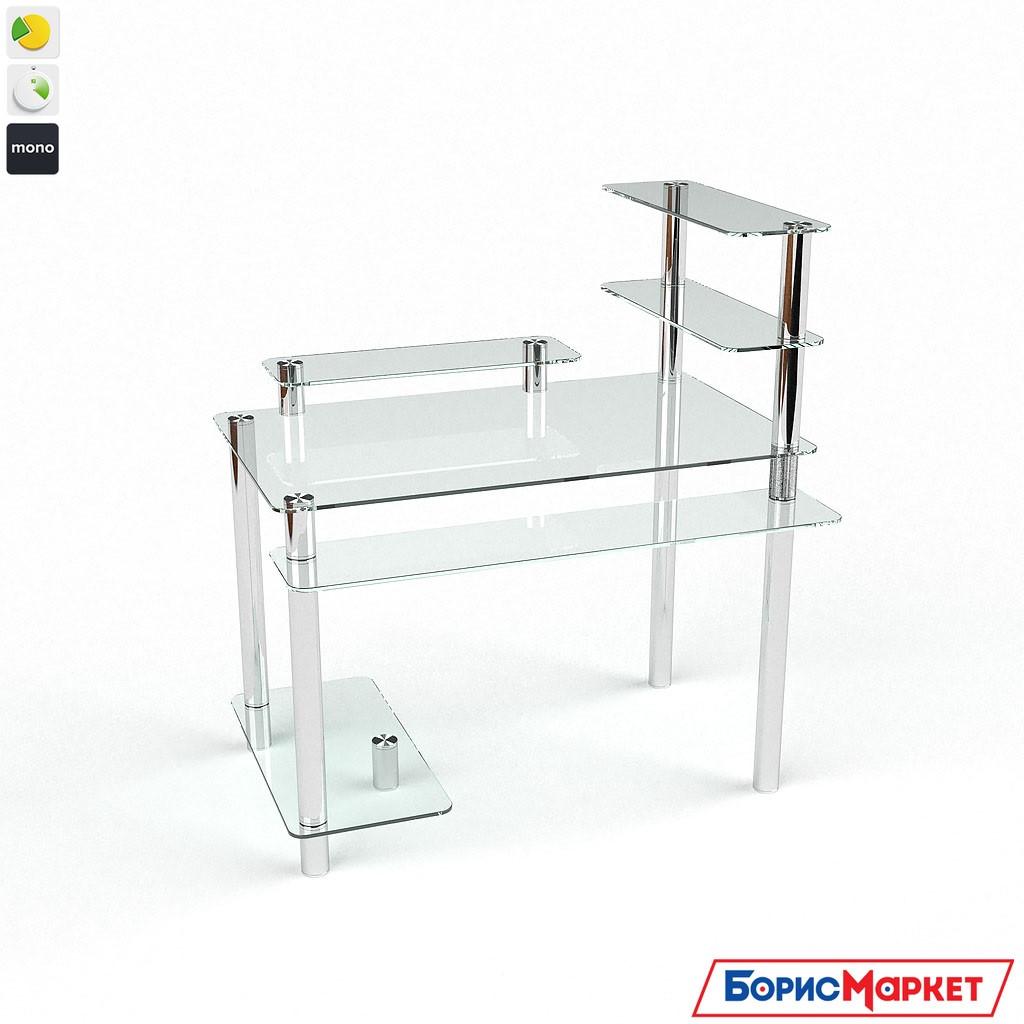 Компьютерный стол стекляный Гиперион от БЦ-Стол