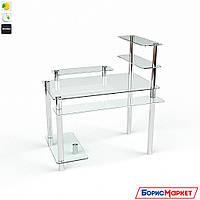 Компьютерный стол стекляный Гиперион от БЦ-Стол, фото 1