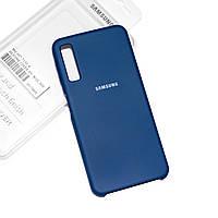 Силиконовый чехол на Samsung Galaxy A7 2018 A750 Soft-touch Denim
