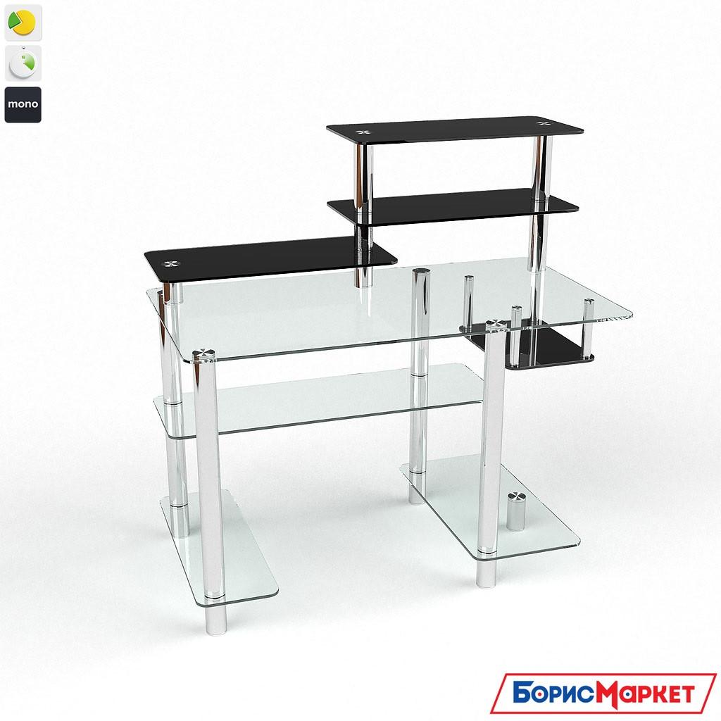Компьютерный стол стекляный Дебют от БЦ-Стол