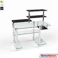 Компьютерный стол стекляный Дебют от БЦ-Стол, фото 1