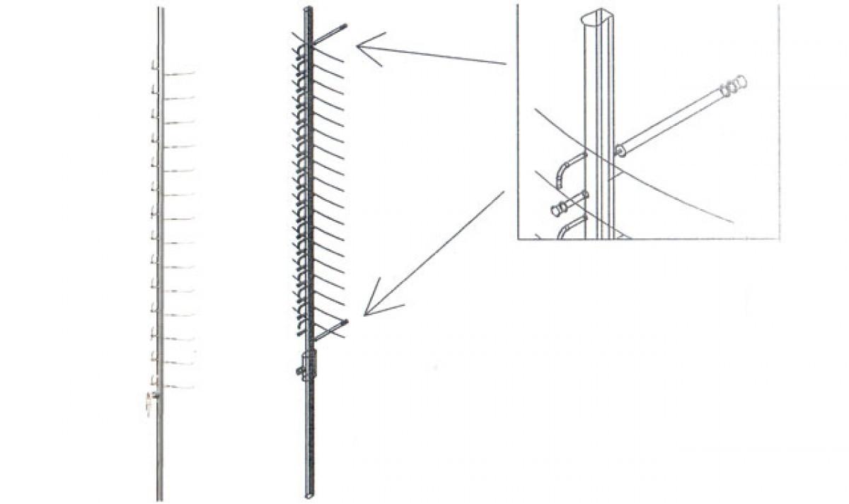 Оборудование Стойка настенная на 16 штук