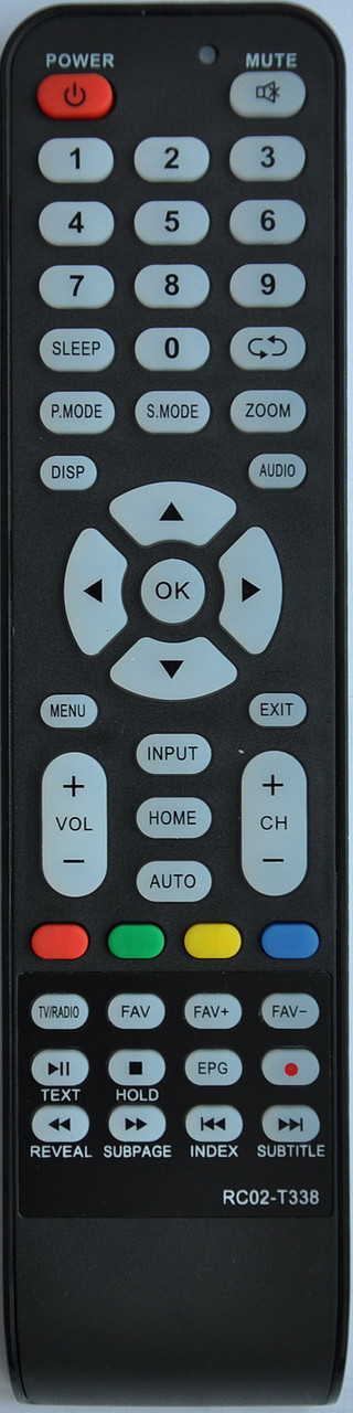 Пульт от телевизора BRAVIS. Модель  RC02-T338