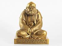 Статуя (25х18х16 см) Бронза. Бодхидхарма (Та Мо). Оксид
