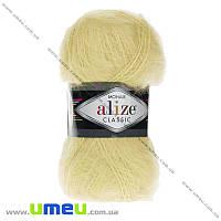 Пряжа Alize Mohair Classic 100 г, 200 м, Желтая светлая 219, 1 моток (YAR-029584)