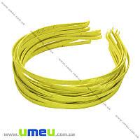 Обруч металлический с атласной лентой, 6 мм, Желтый, 1 шт (OSN-014693)