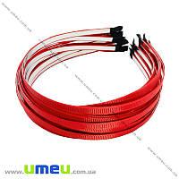 Обруч металлический с репсовой лентой, 6 мм, Красный, 1 шт (OSN-014702)