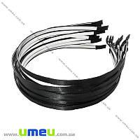 Обруч металлический с атласной лентой, 6 мм, Черный, 1 шт (OSN-014703)