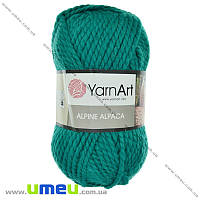 Пряжа YarnArt Alpine Alpaca 150 г, 120 м, Бирюзовая 446, 1 моток (YAR-029614)