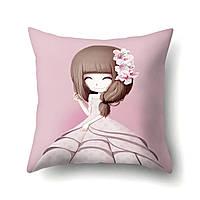 Подушка декоративная Девочка и лилии 45 х 45 см Berni