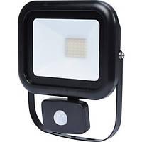Прожектор SMD LED диодный с датчиком движения сетевой VOREL: 230 В, 30 Вт, 2400 lm, V-82847