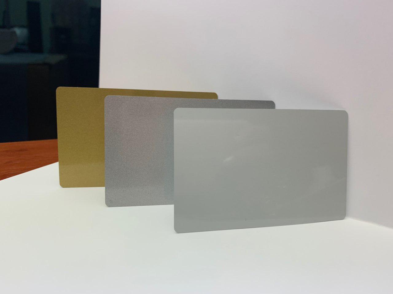 Бейдж для сублімації 0,45 мм, металевий , матове ЗОЛОТО