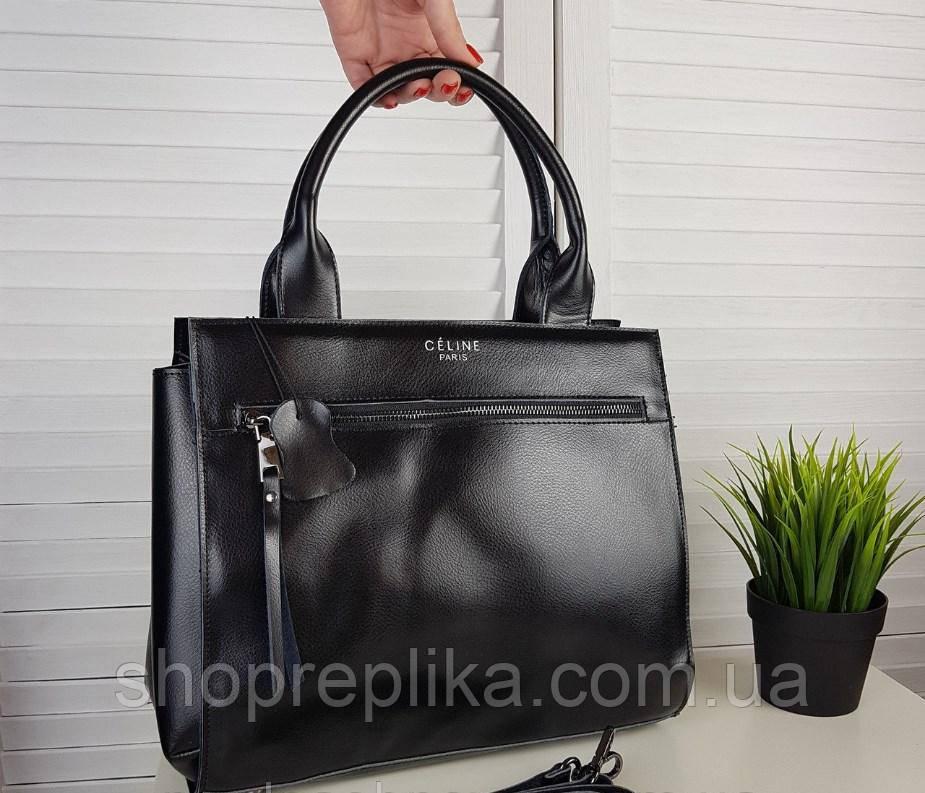 ded74a0cad51 Большая кожаная стильная сумка копия Селин Celine Сумка шкіряна жіноча - Интернет  магазин любимых брендов
